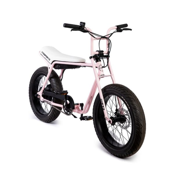 Super 73 ZG Electric Bicycle Front Side View In Pink